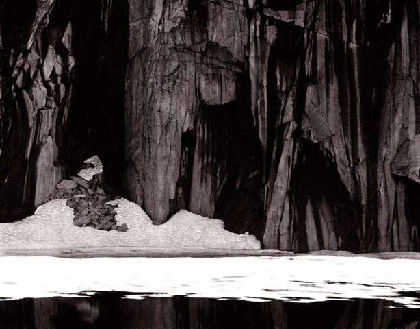 Frozen Lake and Cliffs by Ansel Adams. A classic example of the rule of 1/8's